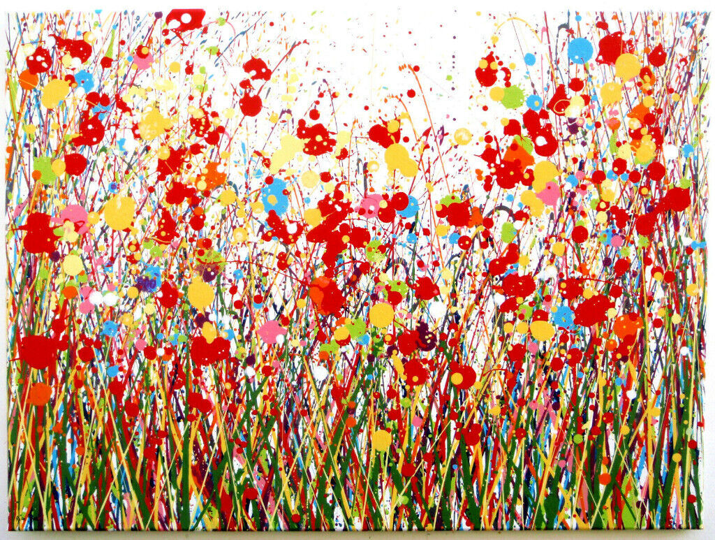 NEW ORIGINAL ABSTRACT RED POPPIES & FLOWER MEADOW MODERN ART LANDSCAPE  CANVAS PAINTING Free Delivery | in Bath, Somerset | Gumtree
