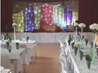 Wedding Star Cloth Drape Hire and LED Drape Hire