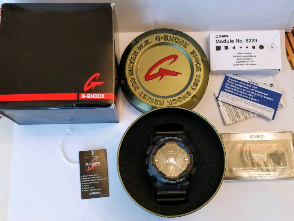G Shock Watch Black And Red Boxed With Instructions In Aberdeen