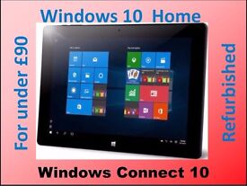 WINDOWS CONNECT 10, 10.1in TOUCHSCREENTABLET WINDOWS 10 HOME