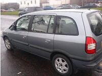 VAUXHALL ZAFIRA DESIGN 16V( 7 SEATER MPV)++ S/H++GOOD CONDITION.
