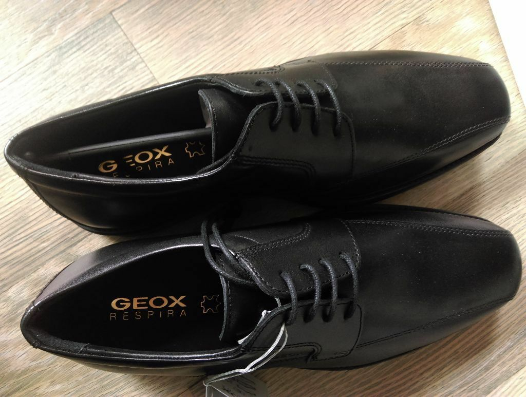 GEOX Leather Brogue Monk Strap Shoes Size 42 UK 8 US 9