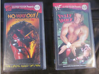 2 Classic VHS Tapes- WWF - No Way Out! (1998) & Fully Loaded (1998)