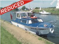 REDUCED Norman 18ft Motor Boat, inc. MOORING to March 2017 (with 20hp Mercury Outboard)