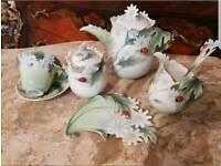 Franz porcelain ladybird daisy pattern collection teaaet