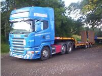 tractor digger transport ,lowloader hire