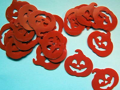 Orange Halloween Punch (40 Orange Jack O Lantern Halloween Die Cut Confetti Paper)