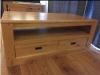 Next Hudson Solid Oak 2 Drawer Coffee Table