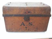 Antique tin trunk