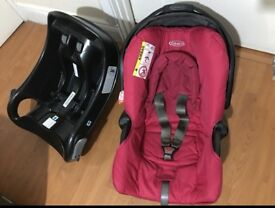 Baby car seat (0-12) with isofex base
