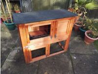 Rabbit / Guinea Pig 3ft Hutch - 2 Tier with Built in Run and full, water/weather proof cover