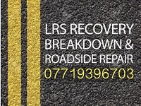 Vehicle recovery service and roadside assistance.