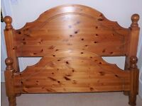 SOLID PINE DOUBLE BED FRAME 4 FOOT 6 INCHES WITH ALL FITTINGS - DISMANTLED