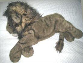 "Merrythought ""SLEEPY LION"" dual purpose stuffed toy"
