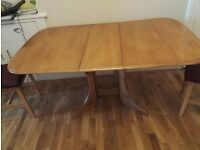 Very good dining table which can be folded convenient for small dining areas