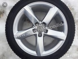 Set 4 Alloys with tyres. R19 45 255. Good condition 07476467385