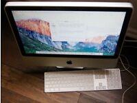 iMac 21.6 2Ghz Core 2 4GB 250Gb Hard drive keyboard no mouse