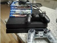 PS4 PlayStation 4 with games bundle and 2 controllers