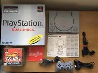 Sony PlayStation 1 Console Grey Dual Shock Bundle
