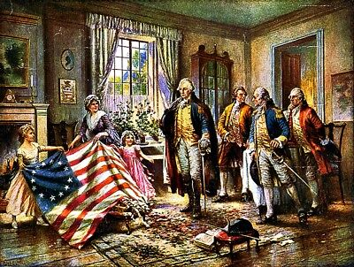 Betsy Ross Freedom Flag Patriotic USA Vinyl Sticker Decal Vote Politics Yeti Cup