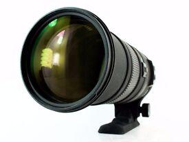 SIGMA DG 150-500mm 1:5-6.3 APO HSM and case (NIKON FIT)