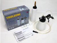 Toolzone Car Van Brake & Clutch Fluid Bleeding Kit Pneumatic Air Vacuum Bleeder