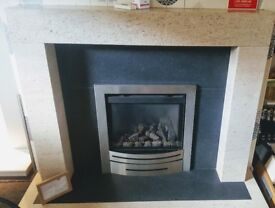 EX DISPLAY Stone/Granite Fire and Fireplace