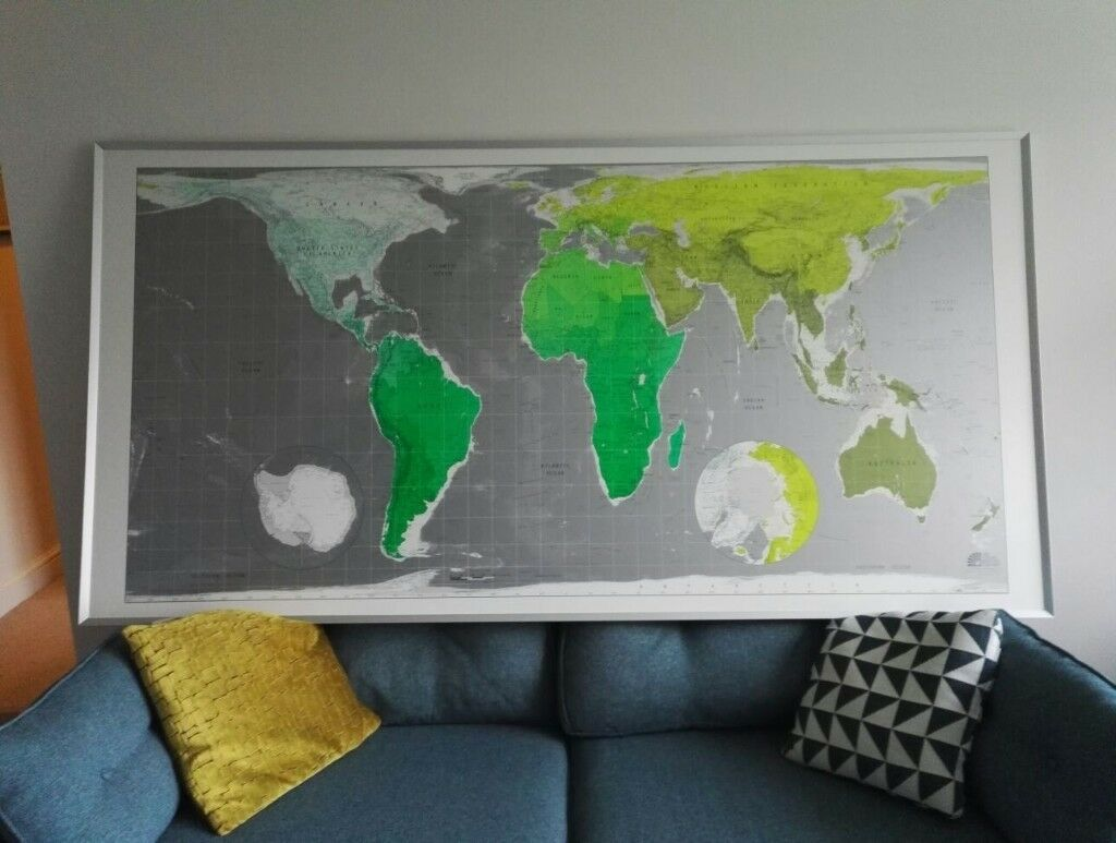 Future mapping company framed world map mint condition in future mapping company framed world map mint condition gumiabroncs Choice Image