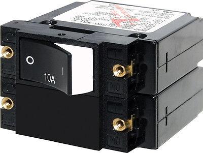 Circuit Breaker - Blue Sea Systems A-Series Raised Rocker Double Pole 10A AC/DC