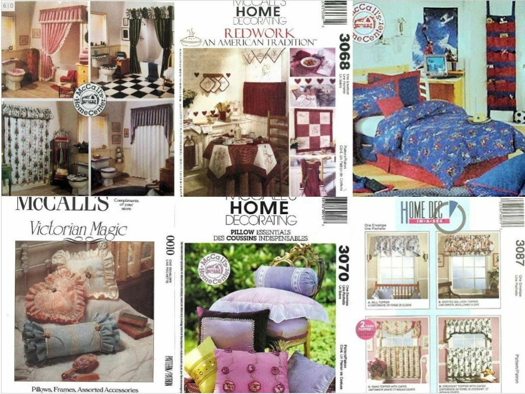 s home decor sewing patterns curtains pillows