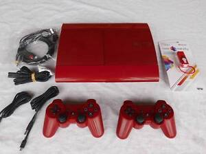 ★PlayStation 3 PS3 250GB RED Console, 2 Controllers, any 5 Games! Logan Village Logan Area Preview