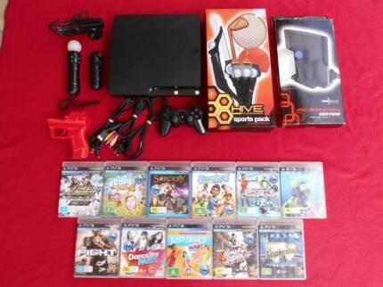 ★PlayStation 3 PS3 120GB Slim Console & Move Gun Mega Bundle