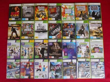 ★XBox 360 Games $5 each (Kinects/Wheels/Headsets/Cables)