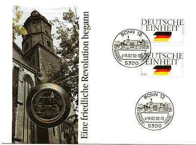 Numisbrief DDR: Thomaskirche in Leipzig vom 14.02.1984