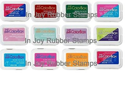 First Colorbox Ink Pads (My First Colorbox Kids Ink Pad Color Child-safe Red Turquoise Silver Yellow)