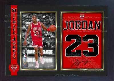 Michael Jordan signed autograph Basketball Memorabilia NBA photo print Framed