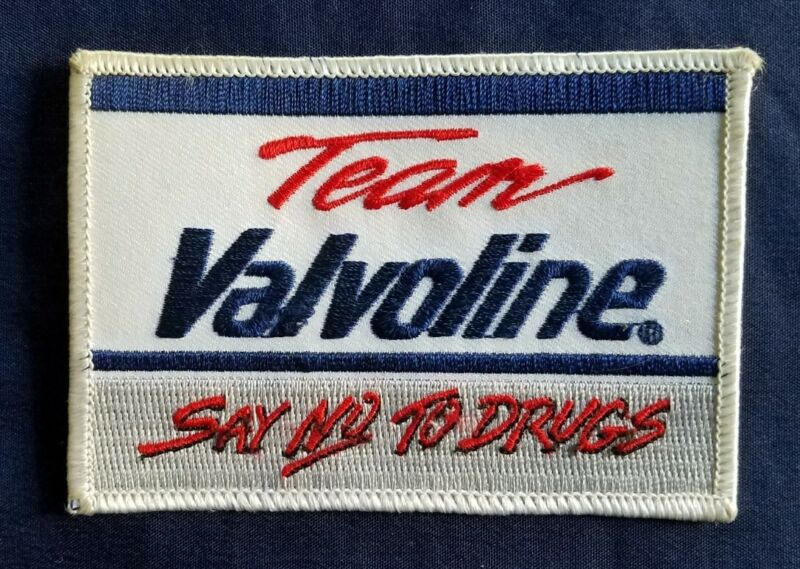 VINTAGE RARE  RACING - TEAM VALVOLINE *SAY NO TO DRUGS* PATCH