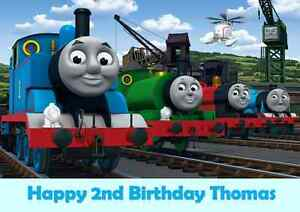 Personalised A4 Thomas The Tank Engine Edible Wafer Paper Cake Topper