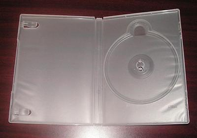 Lot of 20 clear 14mm Standard Hard High Quality Empty DVD Cases with the insert