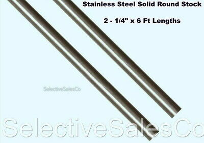 Stainless Steel Solid Round Stock 2 - 14 X 6 Ft Lengths 303 Unpolished Rod