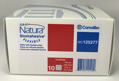 10 Convatec 125277 Natura Stomahesive Wafer 1-34 2-14 Exp 2021 New