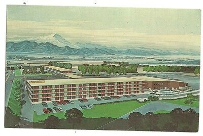 Garden Valley Hotel Best Western Colorado Springs Co Mountains Post Card