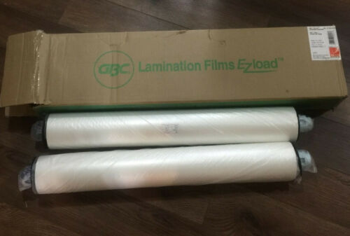 """Gbc HeatSeal EZload Laminating Roll Film 3 mil 1"""" Core 25"""" x 250 ft. 2/Box NIB"""