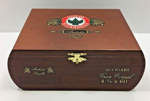 Joya De Nicaragua Antano 1970 Gran Consul Habano Criollo Rounded Wood Cigar Box