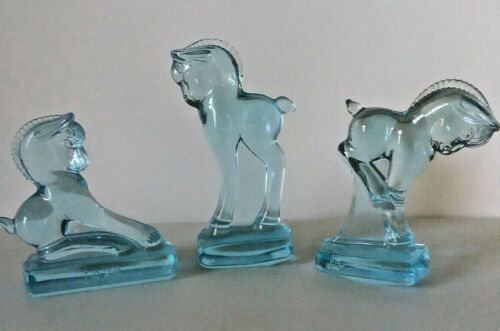 3 HEISEY BY IMPERIAL COLTS STANDING,  BALKING, KICKING COLLECTORS ASSOC. HCA