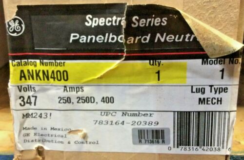 General Electric  ANKN400 PANELBOARD NEUTRAL LUG KIT 250/400A USED
