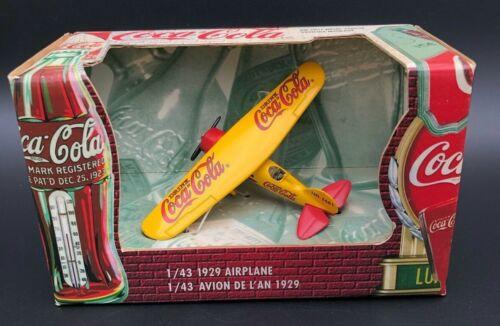 Coca Cola 1929 Airplane Die-Cast 1/43 Vintage 1999 New