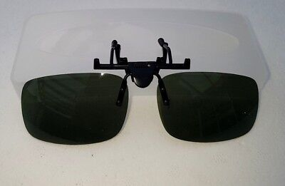 Clip On Shades Sun Glasses Quality Black Green and Yellow