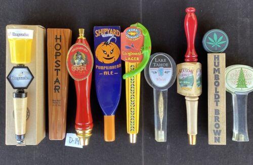 Lot Of 9 Draft Beer Tap Handles, Kona Gecko, Shipyard, Awesome!