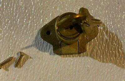 Ccl Desk Drawer Door Lock 2 Keys 34 Cylinder Satin Brass 02067